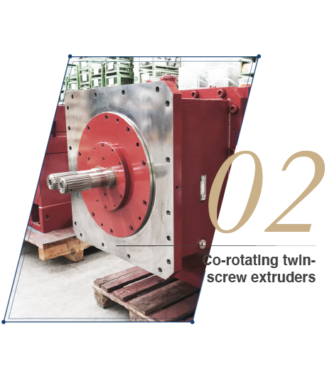 Co-rotating twin-screw extruders